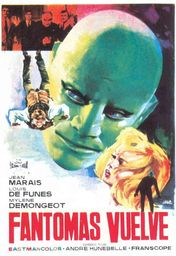 Cartel oficial en español de: Fantomas vuelve