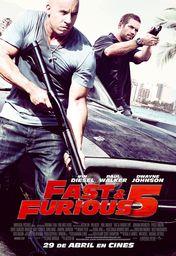 Cartel oficial en español de: Fast & Furious 5
