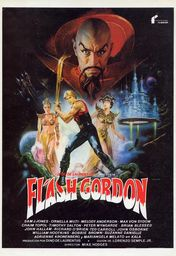 Cartel oficial en español de: Flash Gordon