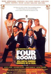 Cartel oficial en español de: Four Rooms