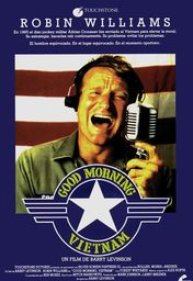 Cartel oficial en español de: Good Morning, Vietnam