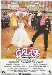Cartel oficial en español de: Grease (Brillantina)