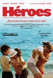 Cartel oficial en español de: Héroes