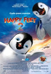 Cartel oficial en español de: Happy Feet 2