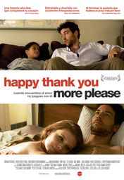 Cartel oficial en español de: Happy thank you more please
