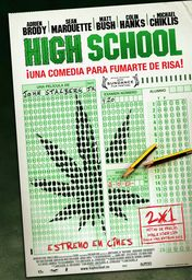 Cartel oficial en español de: High School