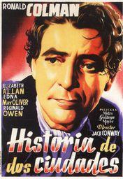 Cartel oficial en español de: Historia de dos ciudades (1935)