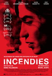 Cartel oficial en español de: Incendies