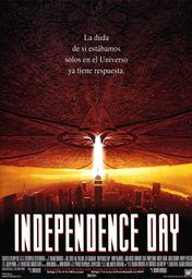 Cartel oficial en español de: Independence Day