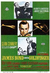 Cartel oficial en español de: James Bond contra Goldfinger (3)