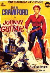 Cartel oficial en español de: Johnny Guitar