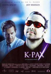 Cartel oficial en español de: K-Pax. Un universo aparte