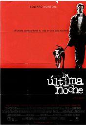 Cartel oficial en español de: La última noche (2002)