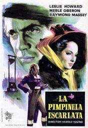Cartel oficial en español de: La Pimpinela Escarlata