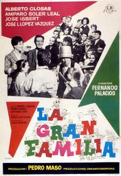 Cartel oficial en español de: La gran familia