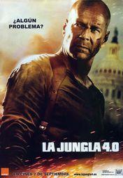 Cartel oficial en español de: La jungla 4.0