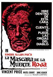 Cartel oficial en español de: La máscara de la muerte roja