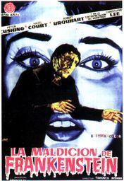 Cartel oficial en español de: La maldición de Frankenstein (1957)
