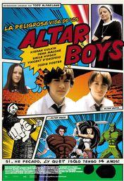 Cartel oficial en español de: La peligrosa vida de los Altar Boys