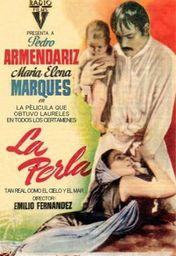 Cartel oficial en español de: La Perla (1947)