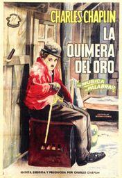 Cartel oficial en español de: La quimera del oro