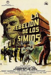 Cartel oficial en español de: La rebelión de los simios