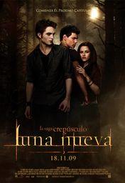 Cartel oficial en español de: La saga Crepúsculo: Luna nueva