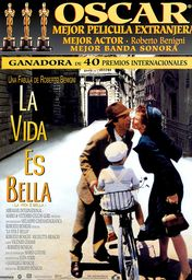 Cartel oficial en español de: La vida es bella