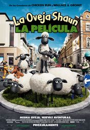 Cartel oficial en español de: La oveja Shaun. La película