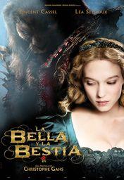 Cartel oficial en español de: La bella y la bestia