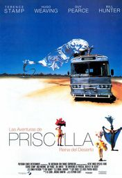 Cartel oficial en español de: Las aventuras de Priscilla, reina del desierto