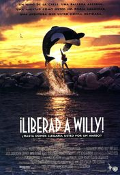 Cartel oficial en español de: ¡Liberad a Willy!