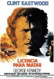 Cartel oficial en español de: Licencia para matar (1975)
