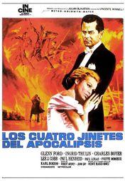Cartel oficial en español de: Los cuatro jinetes del Apocalipsis (1962)