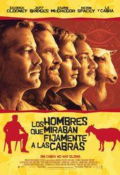 Cartel oficial en español de: Los hombres que miraban fijamente a las cabras