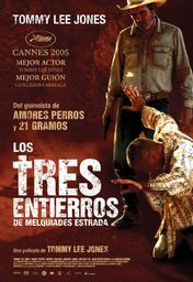 Cartel oficial en español de: Los tres entierros de Melquiades Estrada