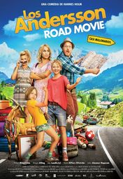 Cartel oficial en español de: Los Andersson: Road Movie