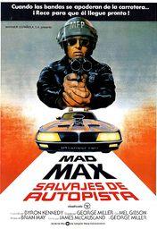 Cartel oficial en español de: Mad Max: Salvajes de autopista
