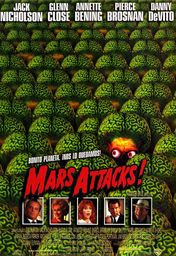 Cartel oficial en español de: Mars Attacks!