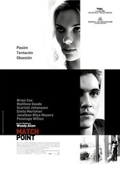 Cartel oficial en español de: Match Point