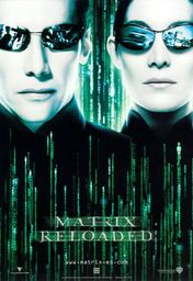 Cartel oficial en español de: Matrix Reloaded