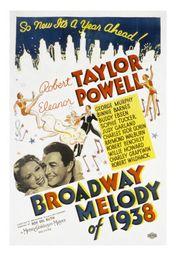 Cartel oficial en español de: Melodías de Broadway (1938)