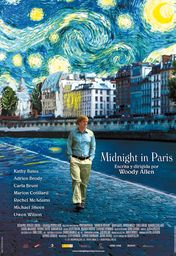 Cartel oficial en español de: Midnight in Paris