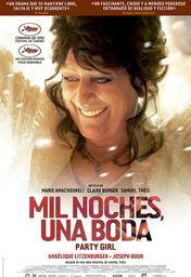 Cartel oficial en español de: Mil noches, una boda (Party Girl)