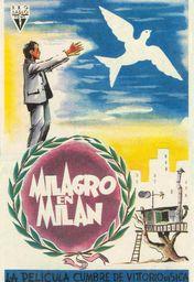 Cartel oficial en español de: Milagro en Milán