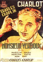 Cartel oficial en español de: Monsieur Verdoux