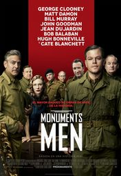 Cartel oficial en español de: Monuments Men
