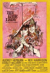 Cartel oficial en español de: My Fair Lady