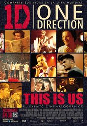 Cartel oficial en español de: One Direction: This is Us