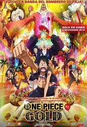 Cartel oficial en español de: One Piece Gold